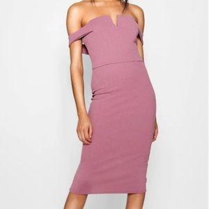 Bardot Midi Bodycon Dress